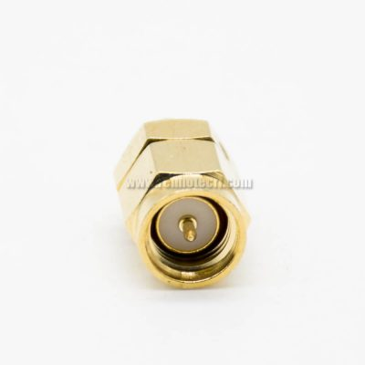 SMA Male To MMCX Male JJ Adapter Gold Plating Coaxial Connector 180Degree