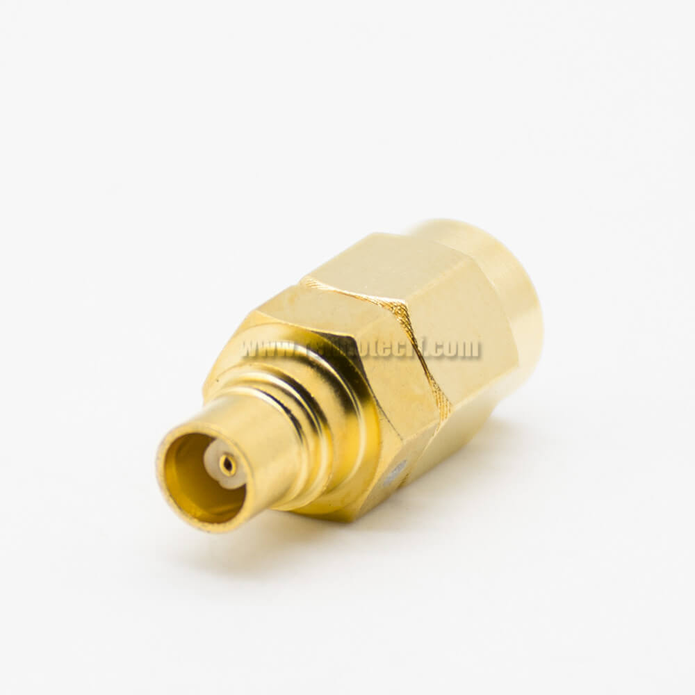 SMA To MCX Adapter Male To Female JK Straight Coaxial Connector Gold Plating