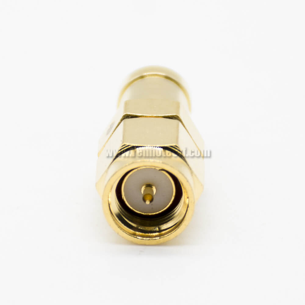 SMA To MCX Female To Female KK Adapter Coaxial Connector Straight Gold Plating