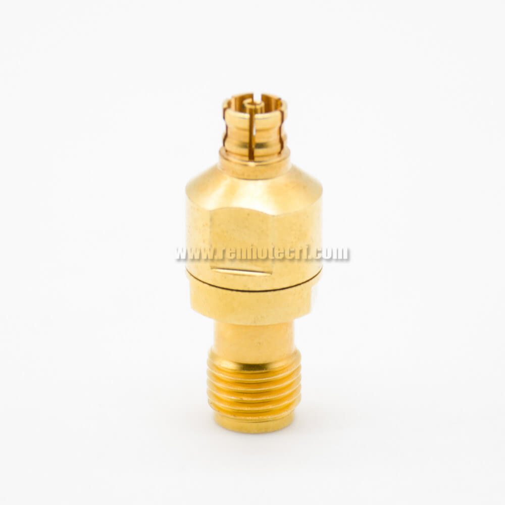 SMA Adapters SMA To PSMP Coaxial Connector Female To Female Gold Plating Straight