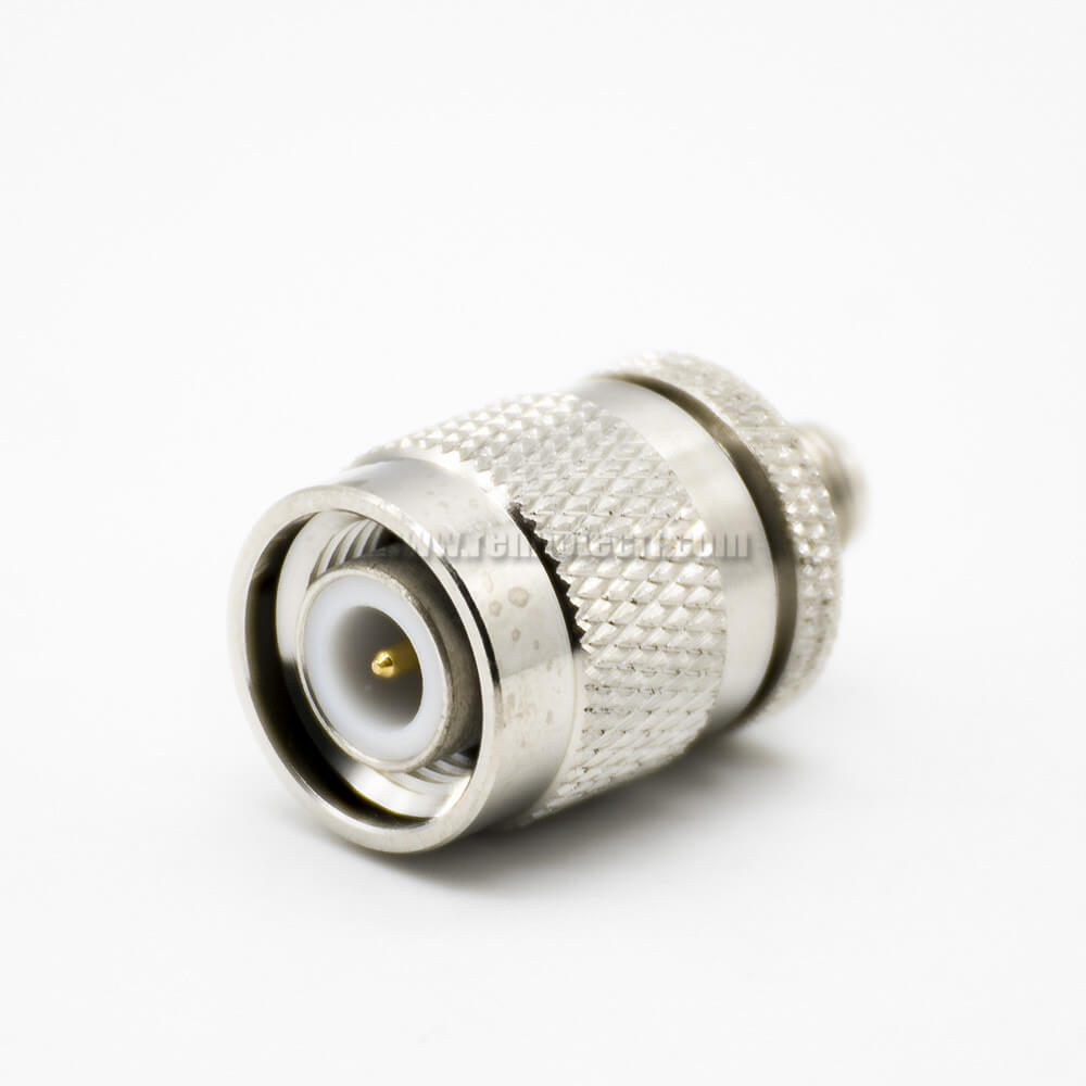TNC To SMA Adapters 180°Male To Female RF Adapter Coaxial Connector Nickel Plating