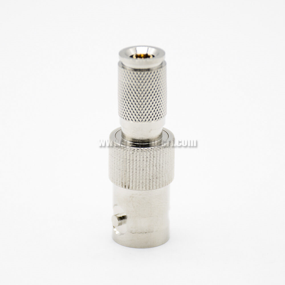 BNC Adapter BNC To DIN1.0/2.3 Nickel Plating Female To Male Straight Coaxial Connector