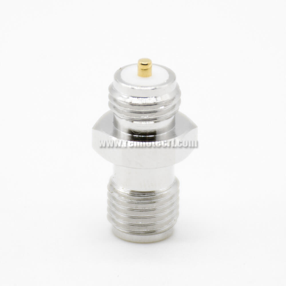 SMA Adapter Female To Female SMA To RP SMA Coaxial Connector 180° Nickel Plating