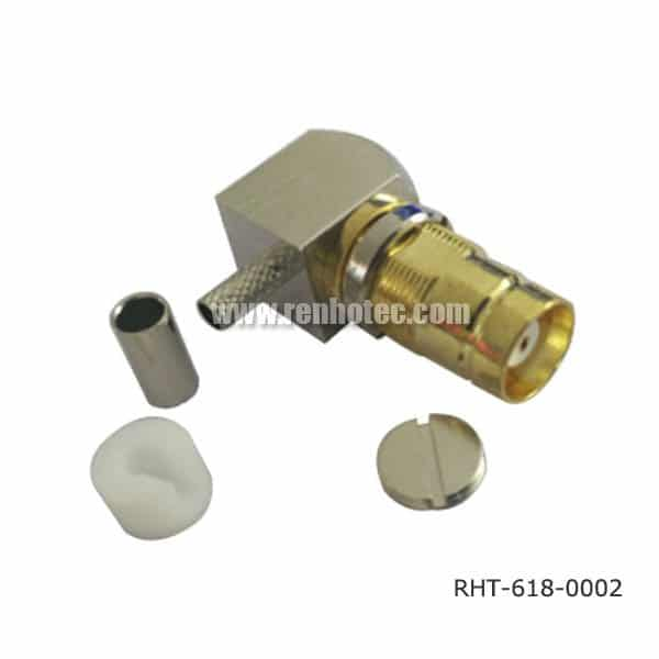 DIN 1.6/5.6 Connector female 90 Degree for Cable