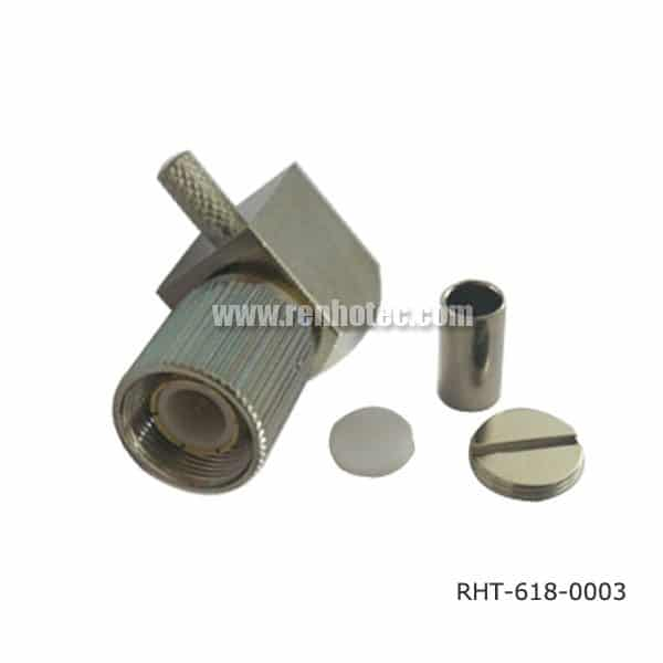 DIN 47295 1.6/5.6 Connector Plug Crimp Angled for RG316