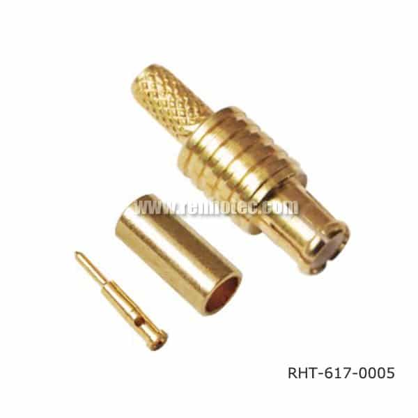MCX Male Connector Striaght Crimp type for RG174