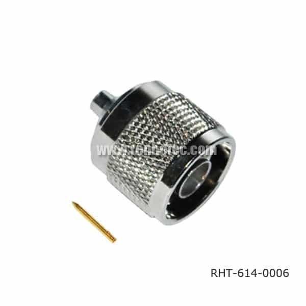 N Cable Connector Sloder Type 180 Degree Male
