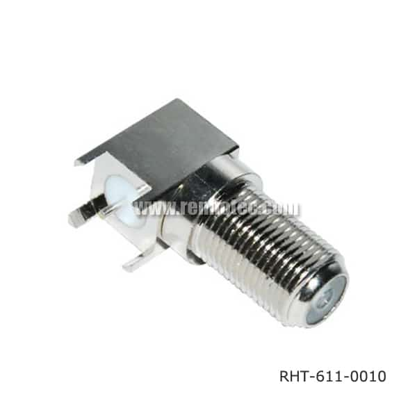 RA F type jack connector for PCB