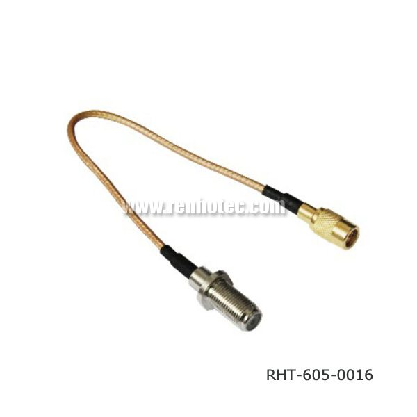 SMB Cable Assembly with Crimp F Connector for RG316