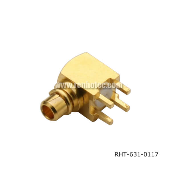 MMCX Right Angle Connector Through Hole Jack for PCB Mount