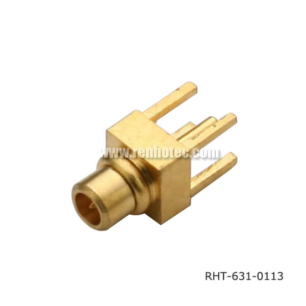 MMCX Straight Through Hole Plug for PCB Mount