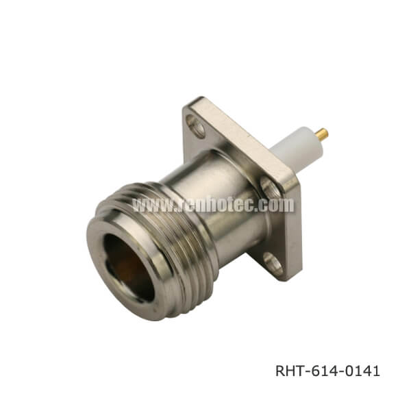 N Type Panel Mount Receptacle Jack 4Holes Flange with Seal