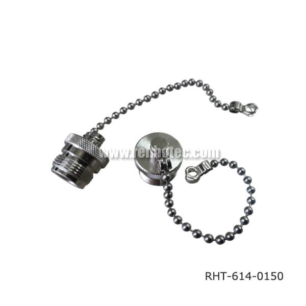 N Type Straight Female Dust Cap With Chain