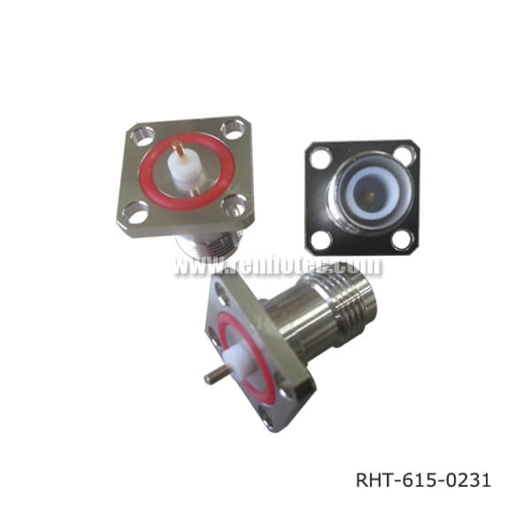 RP TNC Connector Panel Receptacle Jack Straight 4Hole Flange with Seal
