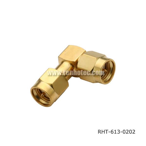 SMA Right Angle Plug to Plug Adaptor