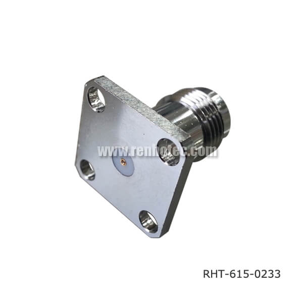 TNC Connector Video Straight Panel 4Hole Flange Jack Receptacle
