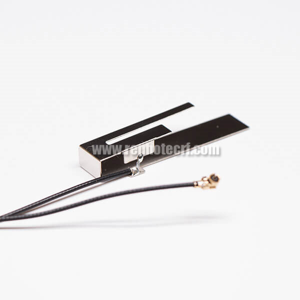 WIFI With TV Antenna Dual Band Stainless Steel RF1.13 Black With IPEX
