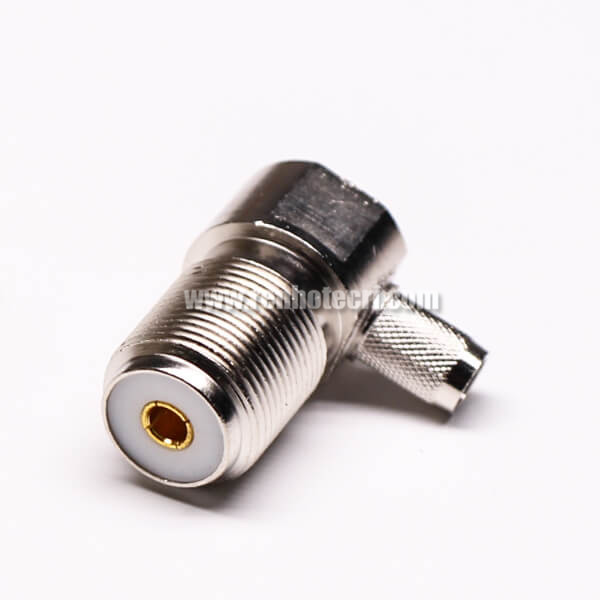 UHF Female Connector 180° UHF-KY Front Bulkhead for Panel Mount