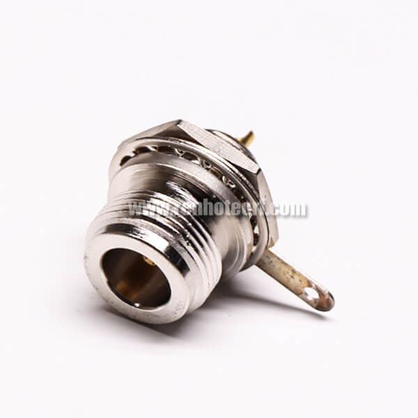 UHF 180 Degree Cable Connector Female Straight with Clamp Type