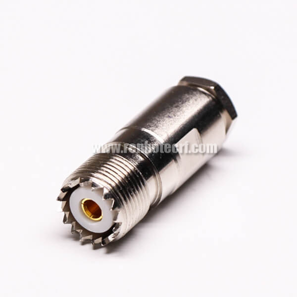 UHF Female Connector with 4 Hole Flange Clamp Type for Panel Mount