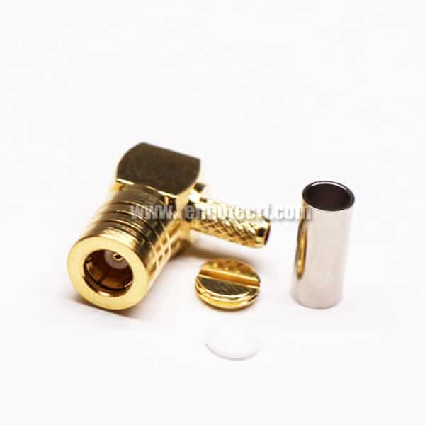 SMB Right Angle Connector Male Crimp Type for Cable