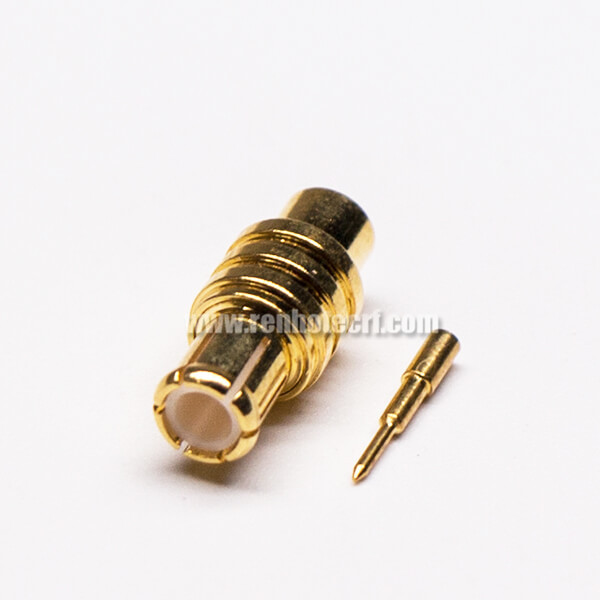 MCX Straight Plug coaxial Connector Solder Type for Cable
