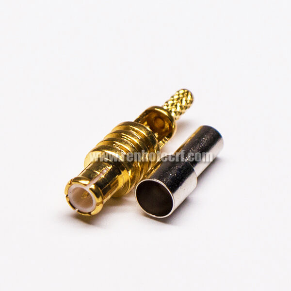 MCX Connector Male Straight Crimp Window Solder for Cable