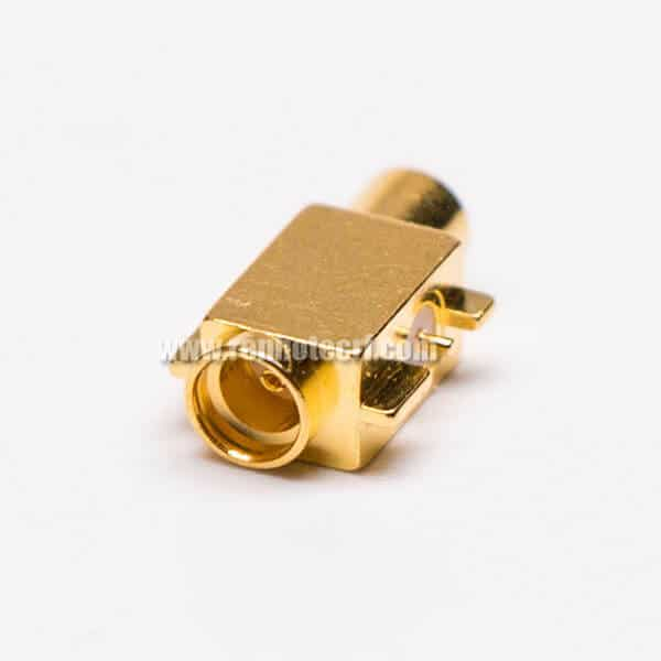 MCX Jack Right Angle Connector Offset Type for PCB Mount