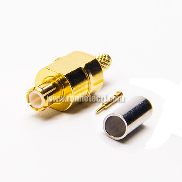 MCX Connector RF Coax Type Male 180 Degree Crimp Type for Cable
