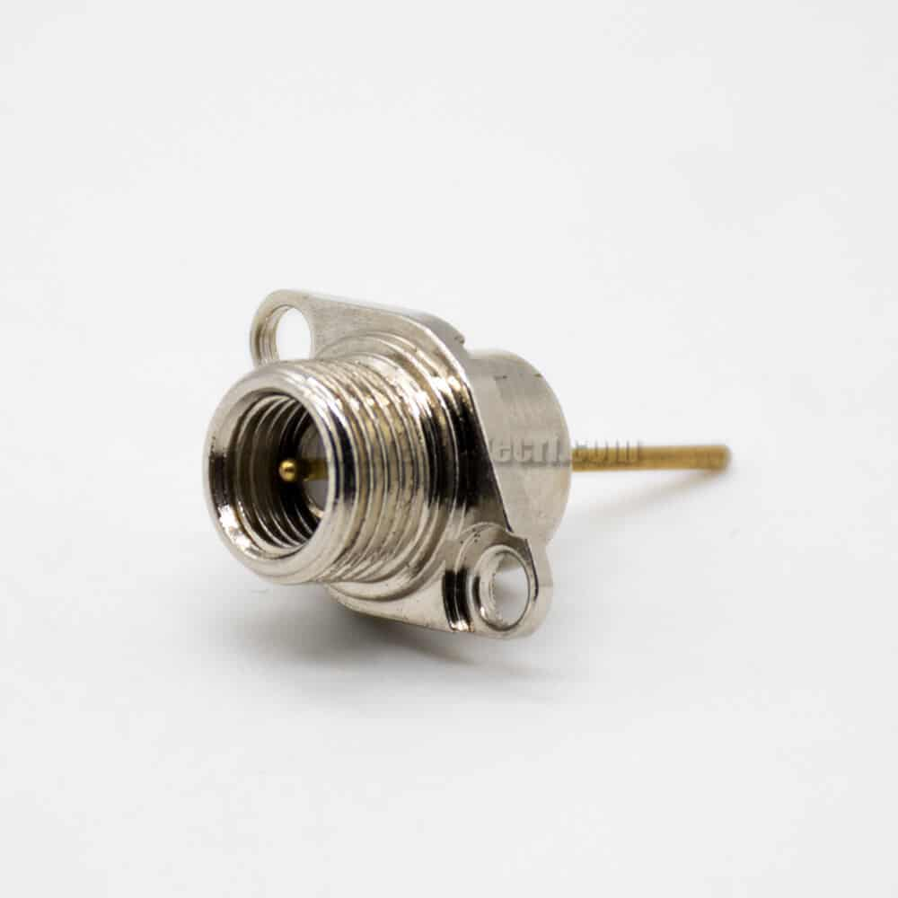 SMA Female Connectorg Interphone connector 2 hole Flange Mountin