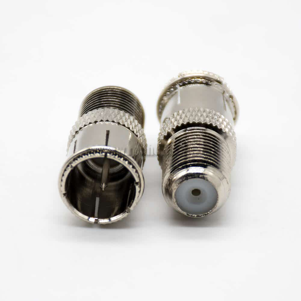 F Type Female Connector Straight F Female to F Male Coaxial Connector