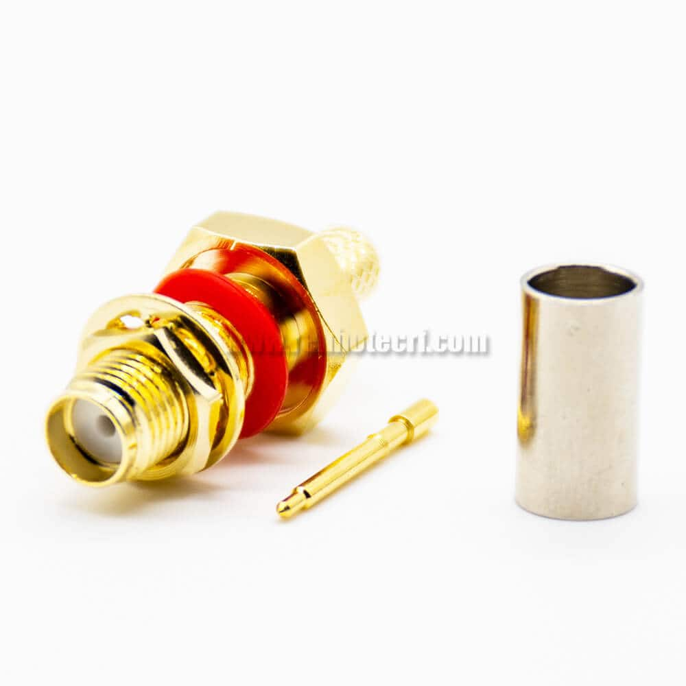 RP-SMA Female Connectors Cable LMR200 Crimp Straight Waterproof Front Buikhead