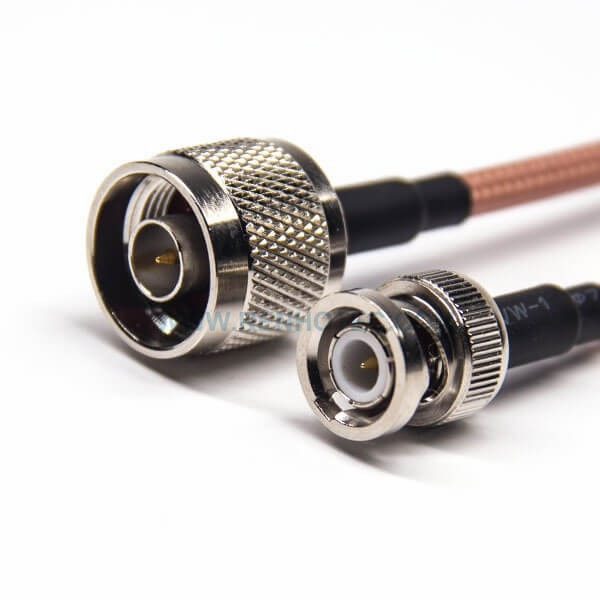 N Data Cable Male Straight to BNC Straight Male RG142 Extension Antenna Cable