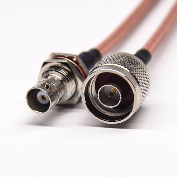 N Extension Cable Straight Male to BNC Jack Bulkhead Watertight RG142 Coaxial Antenna Cable