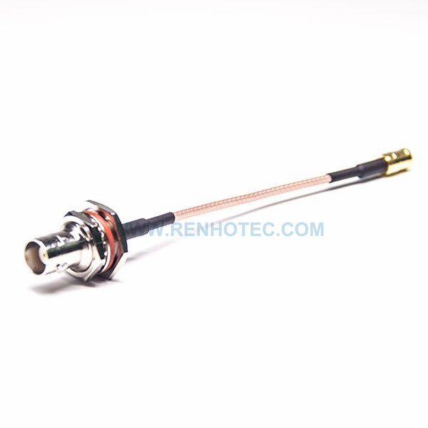 RF Coaxial Cable, BNC Straight Female, SMB Straight Male, RG316 Cable Assembly
