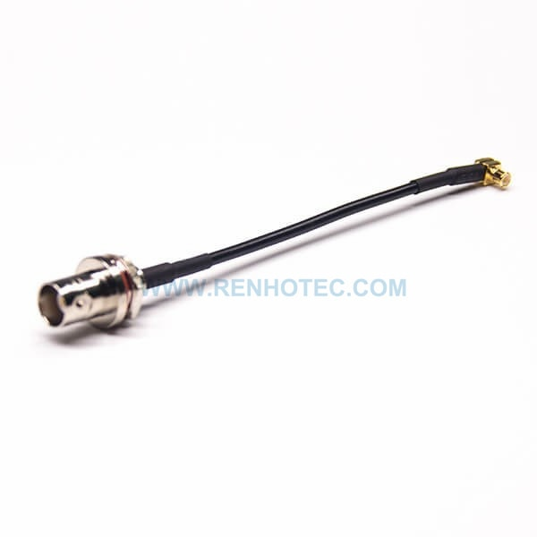 MCX BNC Cable Extension Rear Panel Mount BNC Female Waterproof to MCX Right Angled with RG174