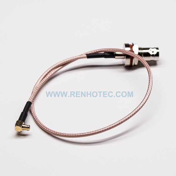 BNC to MCX Female to Male Waterproof Blukhead Mount Cable Extension with RG316