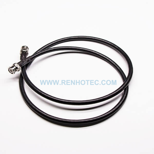 BNC Cable Straight Male to Male BNC Plug with RG58 Black Cable for Video