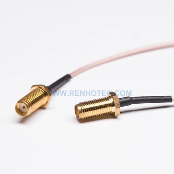 RF Cable, Brown, SMA Female, Bulkhead, Straight/180°, RG316, SMA cable