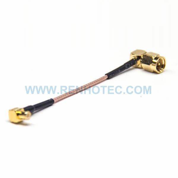 RF Coaxial Cable, SMA, Male, Right Angle, MCX, Right Angle, Male, RG178 Cable, SMA cable