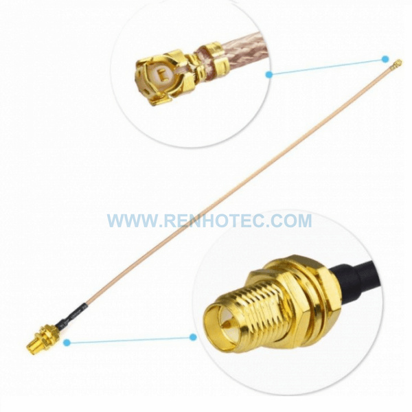 RF Coaxial Cable, RP SMA Straight Female, IPEX Angled Female, RG178 Cable Assembly , SMA cable