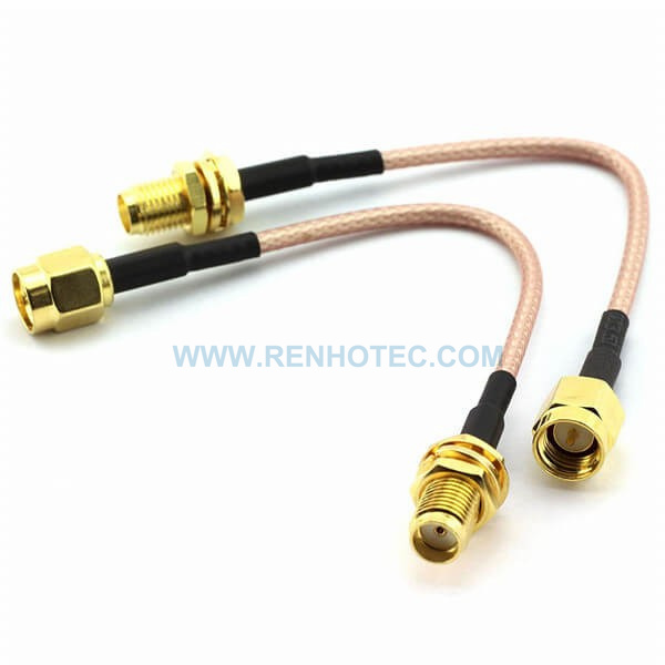 RF Coaxial Cable, SMA Straight Male, SMA Straight Female, RG316 Cable Assembly , SMA cable
