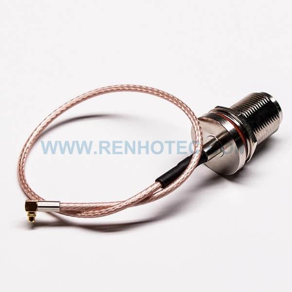 RF Coaxial Cable, N Female, MMCX Male, Bulkhead, Waterproof