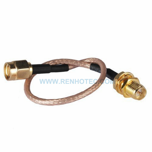 RF Coaxial Cable, SMA Straight RP Male, SMA Straight RP Female, RG316 Cable Assembly , SMA cable