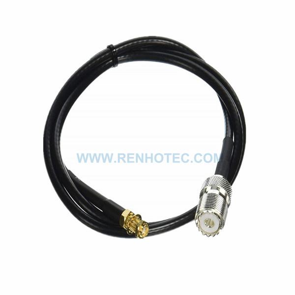 RF Coaxial Cable, SMA Straight Female, UHF Straight Female, RG58 Cable Assembly , SMA cable