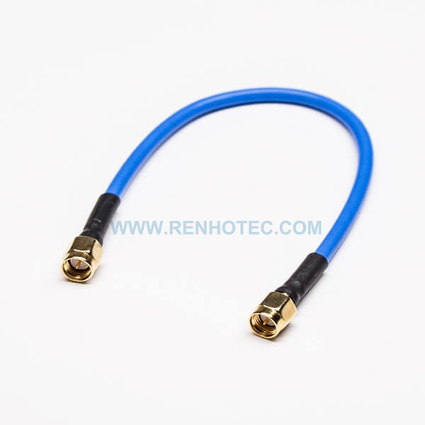 SMA RF Cable 180 Degree Male to Male with Blue RG401 RF Cable Assembly