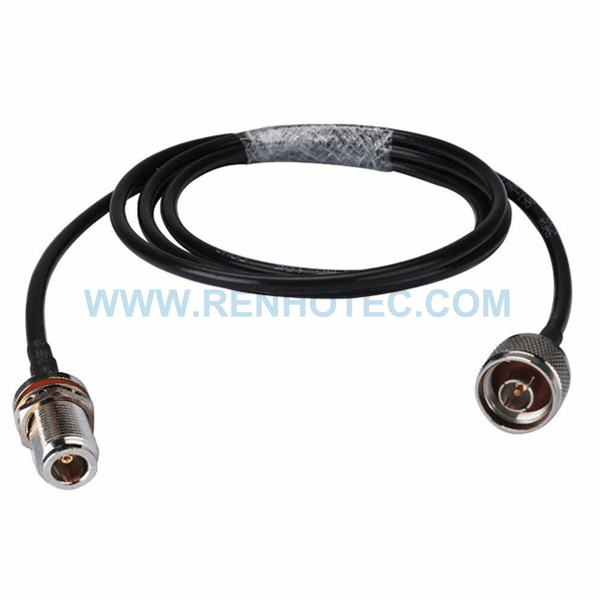 RF Coaxial Cable, N Straight Male, N Straight Female, RG58 Cable Assembly ,N cable