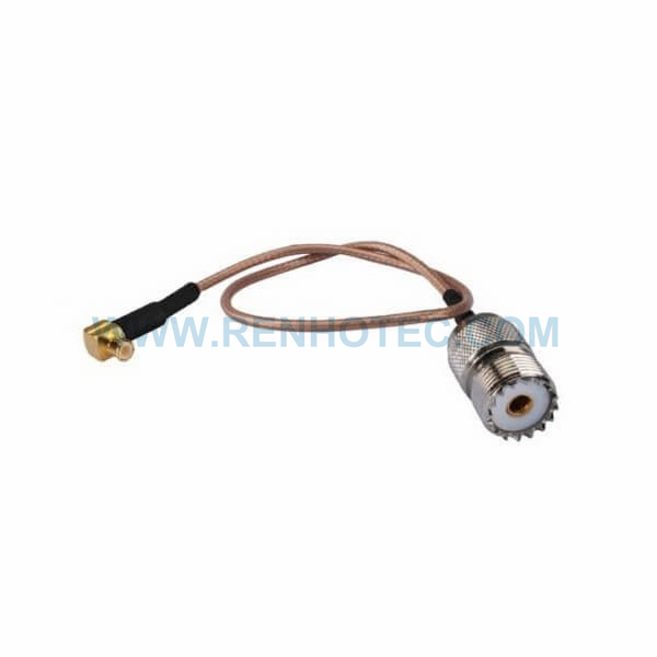 RF Coaxial Cable, MCX Right Angle Male, UHF Straight Female, RG316 Cable Assembly ,MCX cable