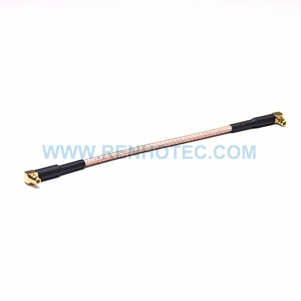 RF Coaxial Cable, MMCX Angled Connector, Male to Male, RG316 Cable Assembly,MMCX cable