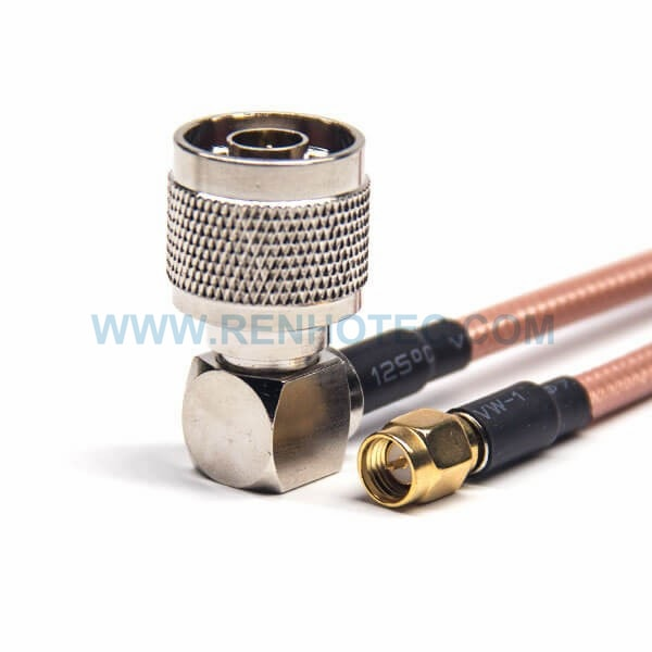 RF Coaxial Cable, N Type, Male, Right Angle, SMA, Male, Straight, RG142 Cable, SMA cable